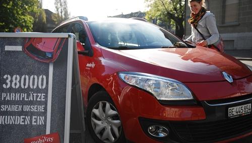 Mobility-Installation zur Parkfläche